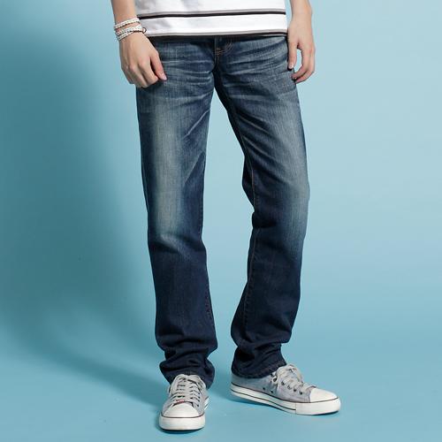 【週年慶。8折優惠↘】【大尺碼】EDWIN 503NARROW 個性街頭直筒褲-男款 石洗藍【單筆2000結帳輸入優惠券代碼161021-4。現折240元】 0