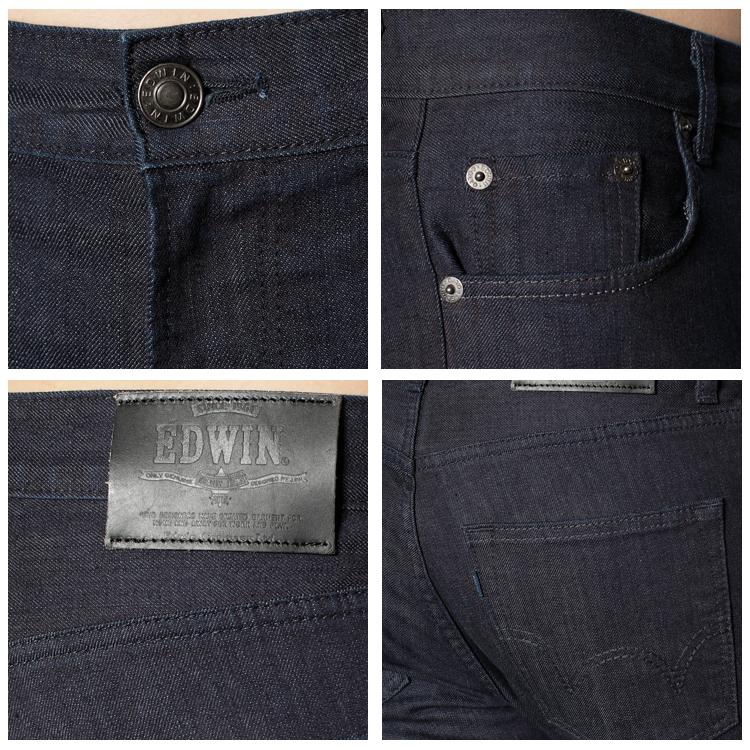 【5折優惠↘】【超大尺碼】EDWIN 503 BASIC 休閒雅痞 基本款直筒褲-男款 原藍色 1