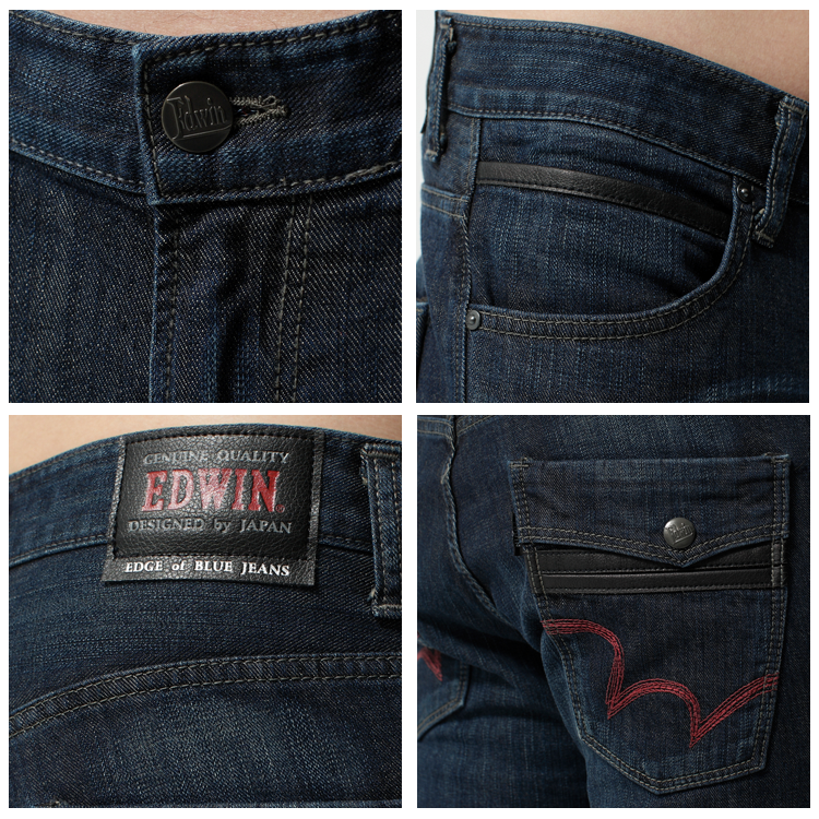 【9折優惠↘】EDWIN EDGE LINE 假袋蓋合身窄管牛仔褲-男款 原藍磨【單筆滿2000結帳輸入 NGNN-SXDL-3YZU-WCH0→現折200元】 1