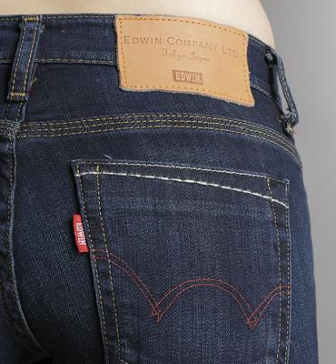 【5折優惠↘】EDWIN EDGE LINE窄管牛仔褲 -女款 酵洗藍 2