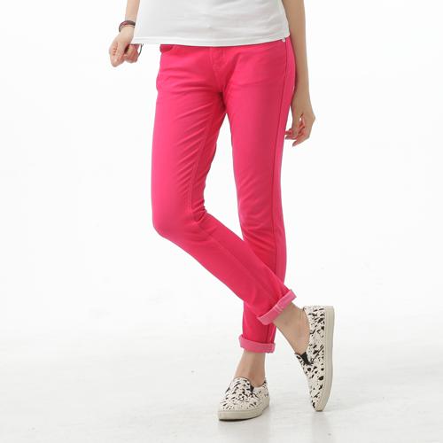 【週年慶。8折優惠↘】Miss EDWIN JERSEYS 夏日迦績 涼感牛仔色褲-女款 紅色 0