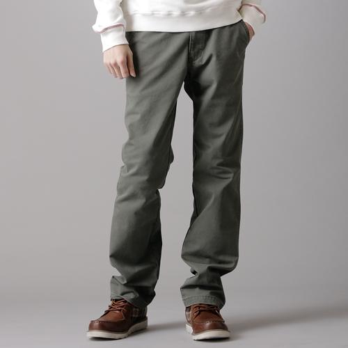 【990元優惠↘】EDWIN 馬蹄配布基本款長褲-男款 灰綠色 0