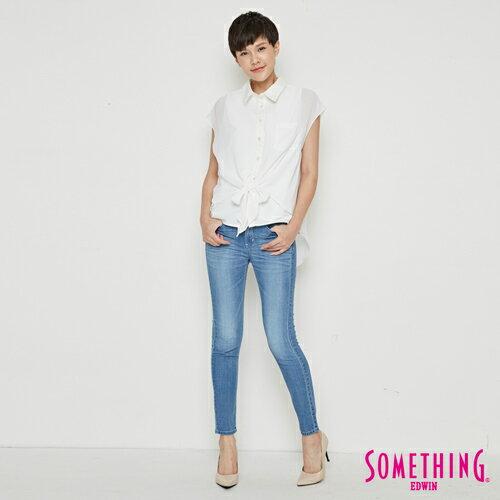 【9折優惠↘】SOMETHING 異素材雙層短袖襯衫-女款 白色 3