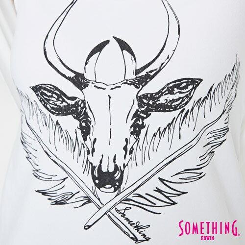 【週年慶。8折優惠↘】SOMETHING 異素材雙層 不規則T恤-女款 白色 5