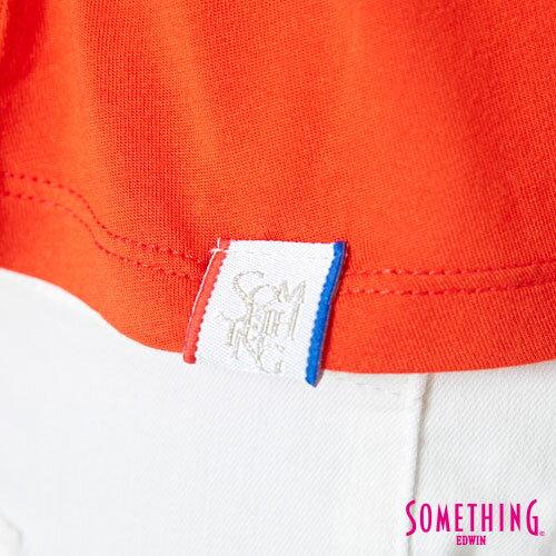 【週年慶。8折優惠↘】SOMETHING 隨興浪漫 荷葉剪裁兩穿上衣-女款 桔紅 4