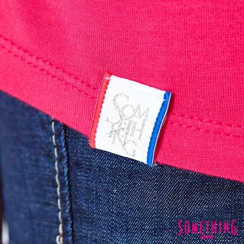 【週年慶。8折優惠↘】SOMETHING 不對稱造型 短袖T恤-女款 桃紅 5