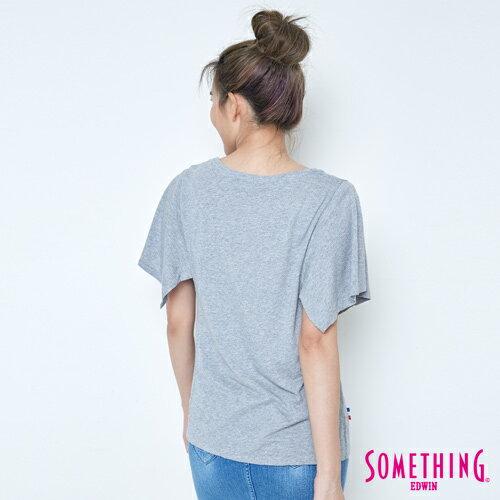 【9折優惠↘】SOMETHING 時尚寬袖 造型T恤-女款 麻灰 1