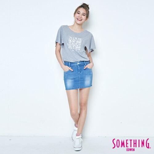 【9折優惠↘】SOMETHING 時尚寬袖 造型T恤-女款 麻灰 3
