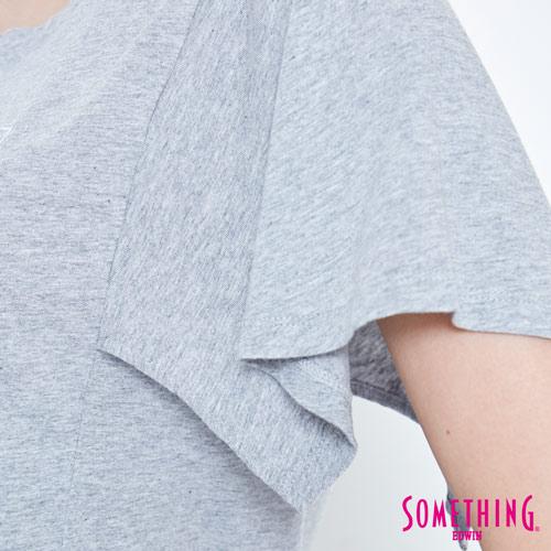 【9折優惠↘】SOMETHING 時尚寬袖 造型T恤-女款 麻灰 5