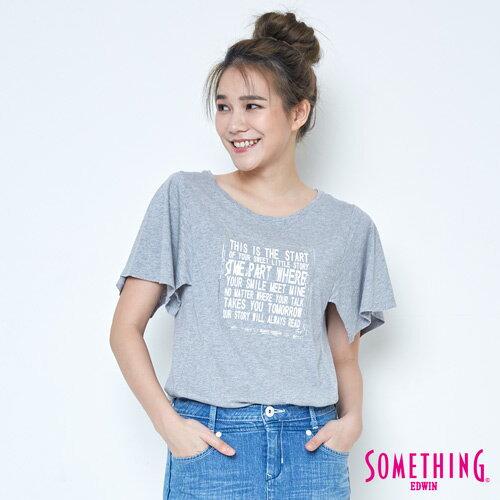 【9折優惠↘】SOMETHING 時尚寬袖 造型T恤-女款 麻灰 0