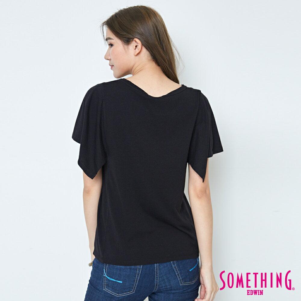 【週年慶。8折優惠↘】SOMETHING 時尚寬袖 造型T恤-女款 黑色 1