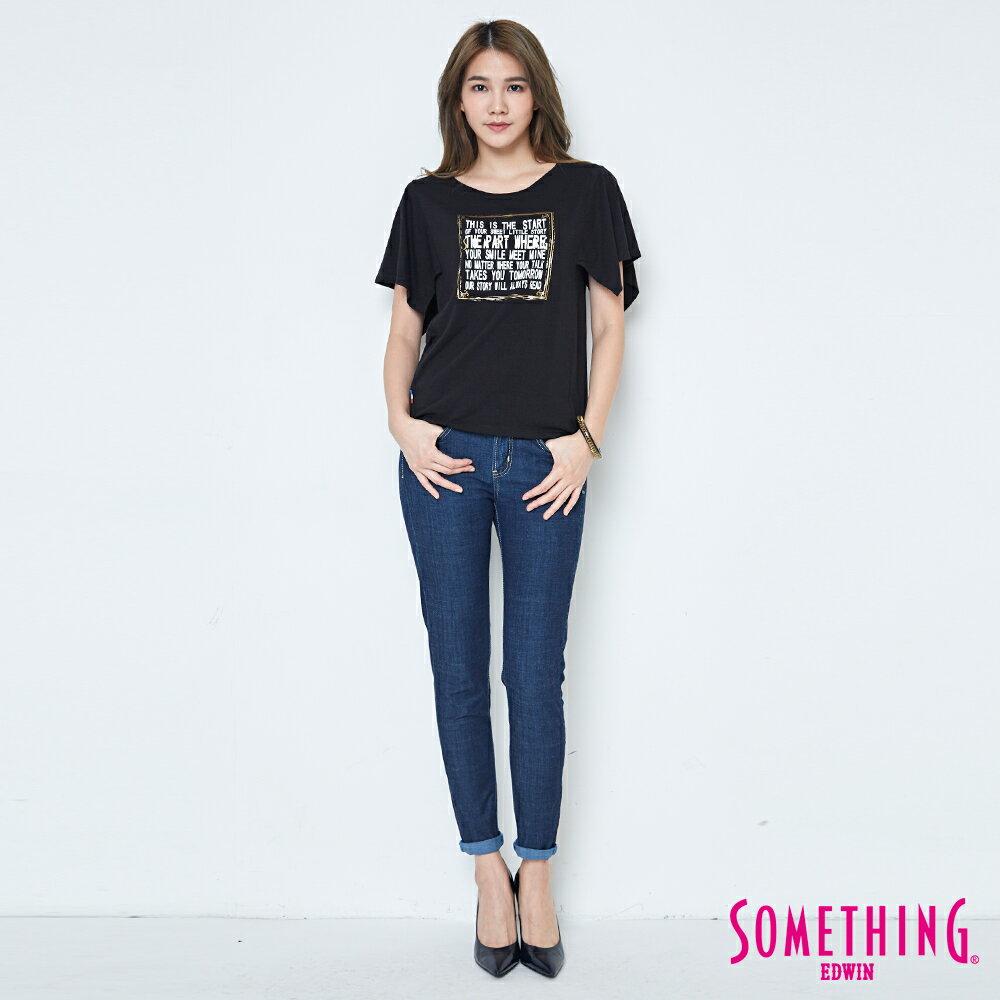 【週年慶。8折優惠↘】SOMETHING 時尚寬袖 造型T恤-女款 黑色 3
