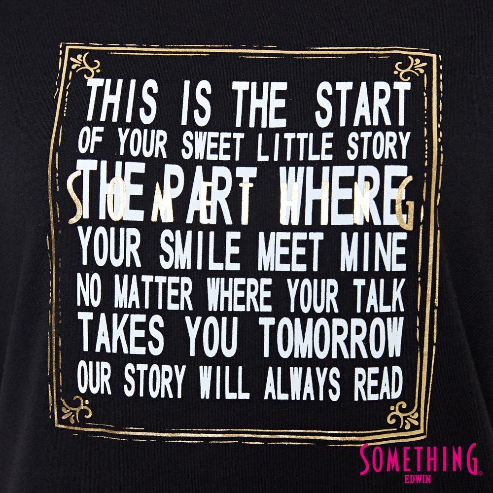 【週年慶。8折優惠↘】SOMETHING 時尚寬袖 造型T恤-女款 黑色 4