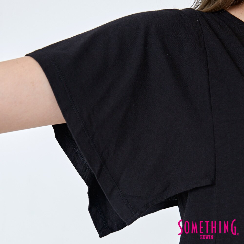 【週年慶。8折優惠↘】SOMETHING 時尚寬袖 造型T恤-女款 黑色 5