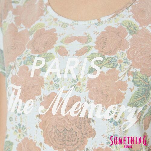 【9折優惠↘】SOMETHING 俏麗花卉 短袖T恤-女款 淡藍色 4