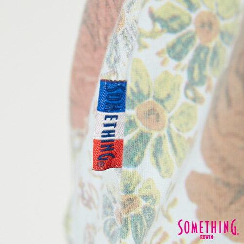 【9折優惠↘】SOMETHING 俏麗花卉 短袖T恤-女款 淡藍色 5