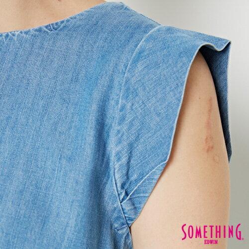 【9折優惠↘】SOMETHING 簡約丹寧 短版T恤-女款 中古藍 4