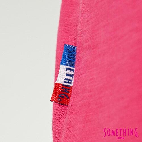 【週年慶。8折優惠↘】SOMETHING 布蕾絲釘珠 短袖T恤-女款 桃紅色 5