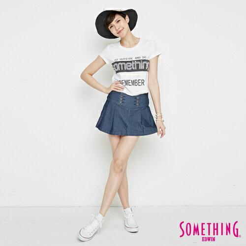 【週年慶。8折優惠↘】SOMETHING 基本LOGO標語 短袖T恤-女款 白色 2