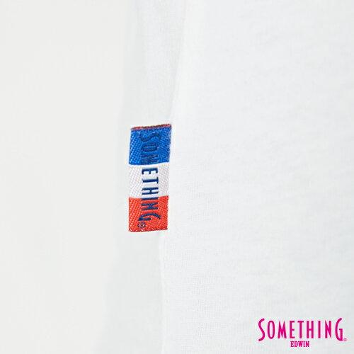 【週年慶。8折優惠↘】SOMETHING 基本LOGO標語 短袖T恤-女款 白色 4