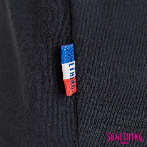 【9折優惠↘】SOMETHING 基本LOGO標語 短袖T恤-女款 黑色 5
