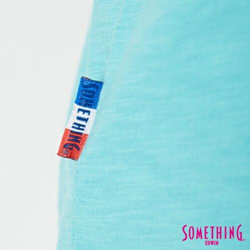 【9折優惠↘】SOMETHING 羽毛圖騰刺繡 連袖T恤-女款 淡藍色 5