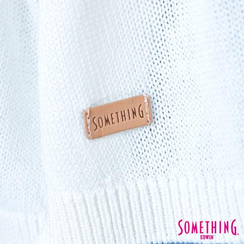 【週年慶。8折優惠↘】SOMETHING 輕鬆寬版 大挖袖線衫 -女款 白色 4