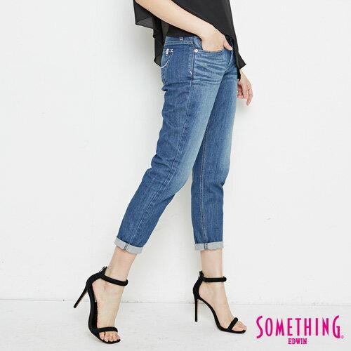 【9折優惠↘】SOMETHING NEO FIT基本 寬鬆八分褲 -女款 中古藍 2