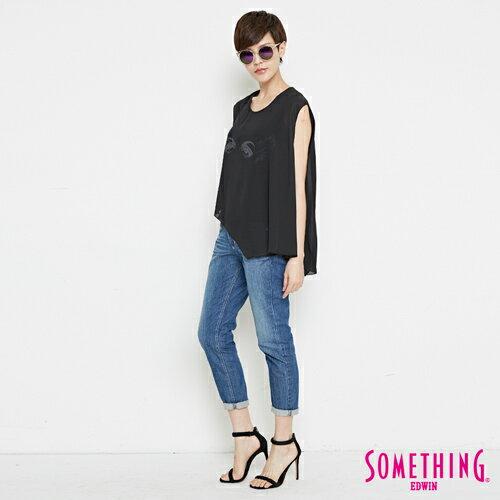 【9折優惠↘】SOMETHING NEO FIT基本 寬鬆八分褲 -女款 中古藍 3