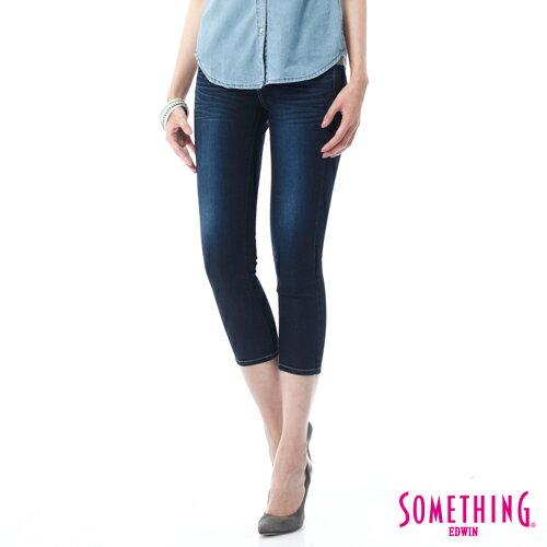 【9折優惠↘】SOMETHING NEO FIT鑽飾五袋七分褲 -女-原藍磨 0