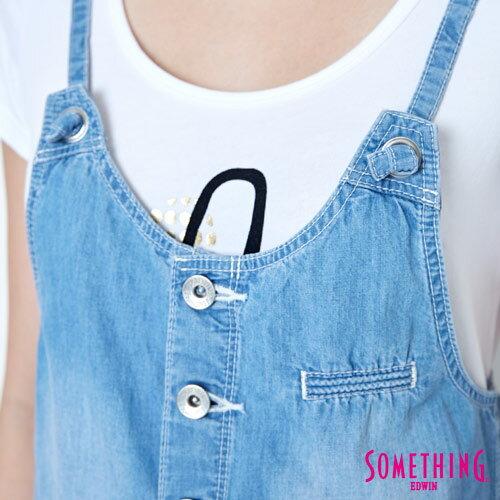 【9折優惠↘】SOMETHING  俏皮細帶 吊帶短褲 -女款 漂淺藍 5