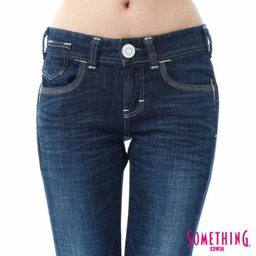 【週年慶。8折優惠↘】SOMETHING CELEB經典五袋式 八分牛仔褲 -女款 原藍磨 4