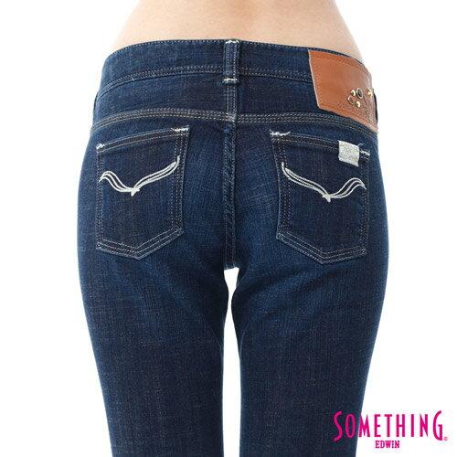 【週年慶。8折優惠↘】SOMETHING CELEB經典五袋式 八分牛仔褲 -女款 原藍磨 5