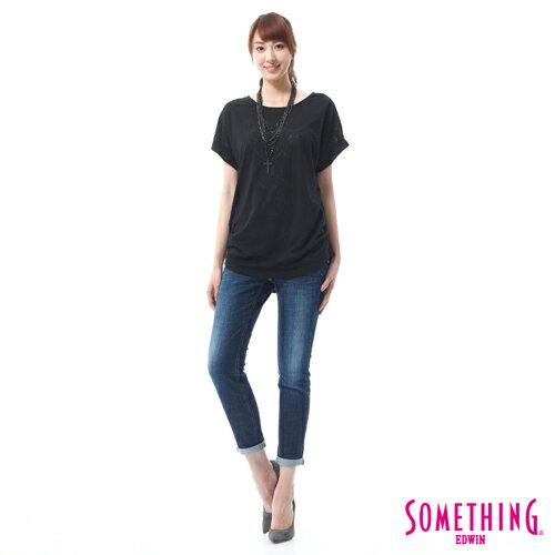 【9折優惠↘】SOMETHING CELEB經典五袋式 八分牛仔褲 -女款 原藍磨 2
