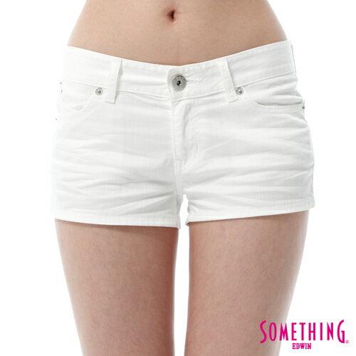 【週年慶。8折優惠↘】SOMETHING NEO FIT 基本款夏日彩色短褲 -女款 白色 4