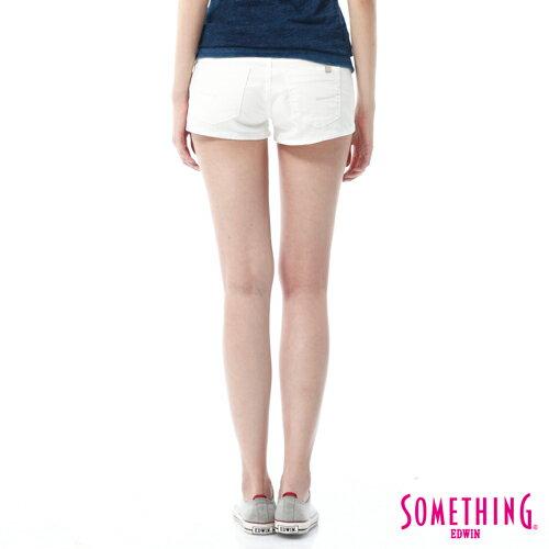 【週年慶。8折優惠↘】SOMETHING NEO FIT 基本款夏日彩色短褲 -女款 白色 1