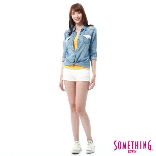 【週年慶。8折優惠↘】SOMETHING NEO FIT 基本款夏日彩色短褲 -女款 白色 2