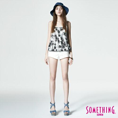 【週年慶。8折優惠↘】SOMETHING NEO FIT 基本款夏日彩色短褲 -女款 白色 3