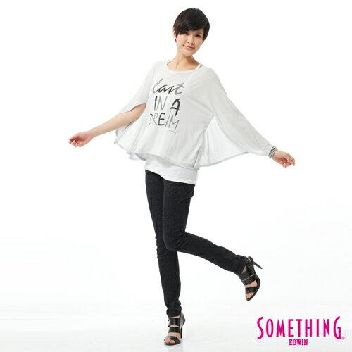 【5折優惠↘】SOMETHING NEO FIT 低調巴洛克印花窄直筒褲-女款 原藍磨 2
