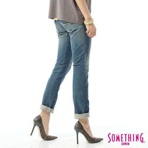 【獨家首降!990元優惠↘】SOMETHING CELEB 窄管牛仔褲-女-輕刷藍 1
