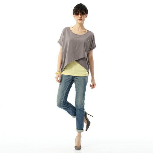 【獨家首降!990元優惠↘】SOMETHING CELEB 窄管牛仔褲-女-輕刷藍 2