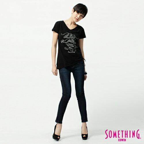 【獨家首降!990元優惠↘】SOMETHING STORY 3 塑腿超窄直筒褲 女款 原藍色 2
