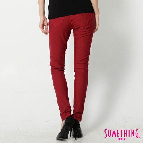 【5折優惠↘】SOMETHING MEIDUSA鬆緊修身 高腰牛仔褲 -女款 紅色 1