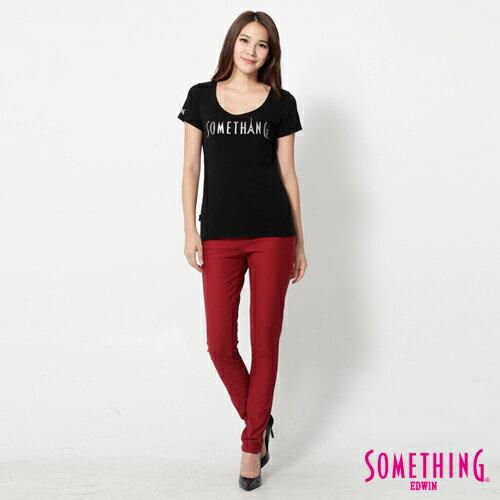 【5折優惠↘】SOMETHING MEIDUSA鬆緊修身 高腰牛仔褲 -女款 紅色 2