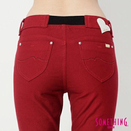 【5折優惠↘】SOMETHING MEIDUSA鬆緊修身 高腰牛仔褲 -女款 紅色 4
