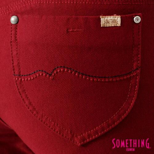 【5折優惠↘】SOMETHING MEIDUSA鬆緊修身 高腰牛仔褲 -女款 紅色 5