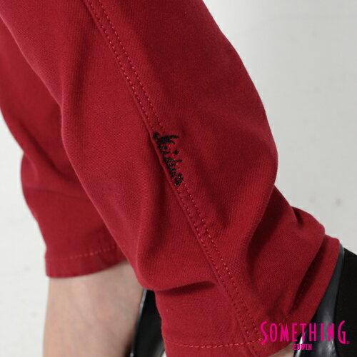 【5折優惠↘】SOMETHING MEIDUSA鬆緊修身 高腰牛仔褲 -女款 紅色 6