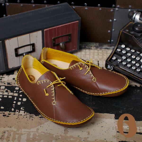 Betel Life 檳榔葉包鞋-mit手工皮鞋撞色真皮手工縫線訂製鞋(古董咖)