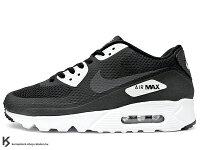 慢跑_路跑周邊商品推薦到[28.5cm] 2016 最新 HYBRID 輕量化進化 NIKE AIR MAX 90 ULTRA ESSENTIAL BLACK WHITE 男鞋 黑白 HYPERFUSE 科技鞋面 ROSHE NATURAL MOTION 氣墊中底 (819474-001) !