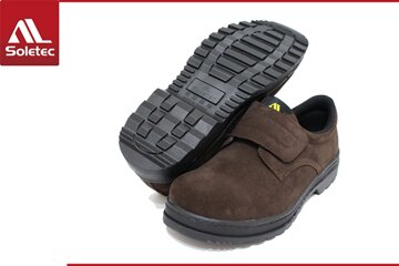 Soletec超鐵安全鞋【皮革製工作休閒兩用鞋】 休閒鞋.防護鞋 .100% 台灣製造-C106605